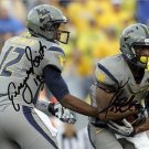 * GENO SMITH TAVON AUSTIN DUAL SIGNED PHOTO 8X10 RP AUTOGRAPHED WEST VIRGINIA !