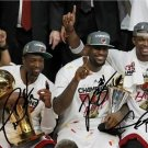 LEBRON JAMES DWYANE WADE CHRIS BOSH SIGNED PHOTO 8X10 RP AUTO MIAMI HEAT CHAMPS