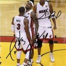 LEBRON JAMES DWYANE WADE CHRIS BOSH SIGNED PHOTO 8X10 RP AUTOGRAPHED MIAMI HEAT