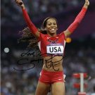 SANYA RICHARDS-ROSS SIGNED PHOTO 8X10 AUTOGRAPHED 2012 OLYMPICS TRACK LONDON