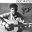 DOC WATSON SIGNED PROMO PHOTO 8X10 RARE RP AUTOGRAPHED BLUEGRASS
