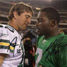 AARON RODGERS MICHAEL VICK SIGNED PHOTO 8X10 RP AUTO