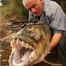 "JEREMY WADE "" RIVER MONSTERS "" SIGNED PHOTO 8X10 RP AUTOGRAPHED"