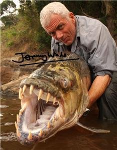 """JEREMY WADE """" RIVER MONSTERS """" SIGNED PHOTO 8X10 RP AUTOGRAPHED"""