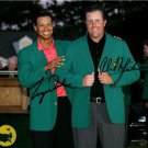 TIGER WOODS PHIL MICKELSON SIGNED PHOTO 8X10 RP AUTO GOLF