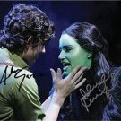 IDINA MENZEL ADAM GARCIA SIGNED 8X10 RP WICKED MUSICAL