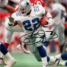 EMMITT SMITH SIGNED PHOTO 8X10 AUTO RP DALLAS COWBOYS