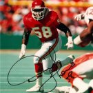 DERRICK THOMAS SIGNED PHOTO 8X10 RP JERSEY AUTOGRAPHED * KANSAS CITY CHIEFS