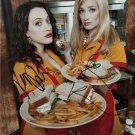 2 BROKE GIRLS CAST SIGNED PHOTO 8X10 RP AUTOGRAPHED * KAT DENNINGS & BETH BEHRS