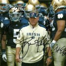 2012 NOTRE DAME TEAM SIGNED PHOTO 8X10 RP MANTI TE'O  BRIAN KELLY EVERETT GOLSON