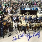 2012 NOTRE DAME TEAM SIGNED PHOTO 8X10 RP MANTI TE'O EVERETT GOLSON BRIAN KELLY