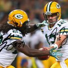 EDDIE LACY & AARON RODGERS SIGNED PHOTO 8X10 RP AUTOGRAPHED * GREEN BAY