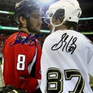 SIDNEY CROSBY ALEX OVECHKIN DUAL SIGNED PHOTO 8X10 RP AUTOGRAPHED HOCKEY