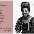 MAYA ANGELOU SIGNED PHOTO 8X10 RP AUTOGRAPHED POET * AUTHOR * WITH POEM