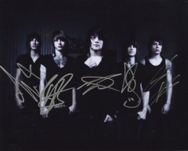 ** ASKING ALEXANDRIA BAND SIGNED PHOTO 8X10 RP AUTOGRAPHED DANNY WORSNOP