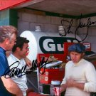 STEVE MCQUEEN CARROLL SHELBY SIGNED PHOTO 8X10 RP AUTOGRAPHED