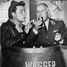 BOB CRANE WERNER KLEMPERER SIGNED PHOTO 8X10 RP AUTOGRAPHED HOGAN'S HEROES CAST