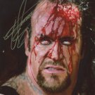 THE UNDERTAKER SIGNED PHOTO 8X10 RP AUTOGRAPHED BLOOD WWF WWE WRESTLING