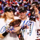 * CLAY MATTHEWS AND ARRON RODGERS SIGNED PHOTO 8X10 RP AUTOGRAPHED