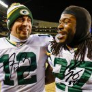 EDDIE LACY AARON RODGERS SIGNED PHOTO 8X10 RP AUTOGRAPHED GREEN BAY PACKERS
