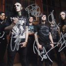 MOTIONLESS IN WHITE BAND SIGNED POSTER PHOTO 8X10 RP AUTOGRAPHED