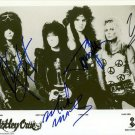 MOTLEY CRUE BAND SIGNED POSTER PHOTO 8X10 RP AUTOGRAPHED NIKKI SIXX VINCE NEIL