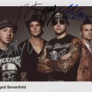 ** AVENGED SEVENFOLD SIGNED POSTER PHOTO 8X10 RP AUTOGRAPHED JAMES SULLIVAN  ++