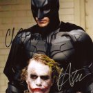 CHRISTIAN BALE HEATH LEDGER SIGNED PHOTO 8X10 RP AUTOGRAPHED BATMAN JOKER