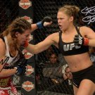 MIESHA TATE RONDA ROUSEY SIGNED PHOTO 8X10 RP AUTOGRAPHED ** STRIKEFORCE **