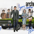 ARCHER FULL CAST SIGNED POSTER PHOTO 8X10 RP AUTOGRAPHED