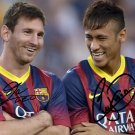 LIONEL MESSI & NEYMAR SIGNED PHOTO POSTER 8X10 RP AUTOGRAPHED BARCELONA