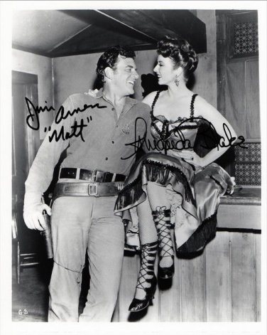 AMANDA BLAKE JAMES ARNESS SIGNED PHOTO 8X10 RP GUNSMOKE CAST