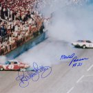 RICHARD PETTY DAVID PEARSON SIGNED PHOTO 8X10 RP AUTOGRAPHED DAYTONA 1976