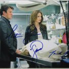 CASTLE CAST NATHAN FILLION STANA KATIC SIGNED PHOTO RP 8X10 AUTOGRAPHED
