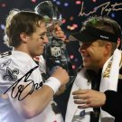 DREW BREES & SEAN PAYTON SIGNED AUTOGRAPHED PHOTO AUTO RP 8X10 SUPER BOWL SAINTS