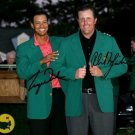 GOLF PROS PHIL MICKELSON TIGER WOODS SIGNED PHOTO 8X10 RP AUTOGRAPHED