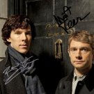 BENEDICT CUMBERBATCH MARTIN FREEMAN SIGNED PHOTO 8X10 RP AUTOGRAPHED SHERLOCK