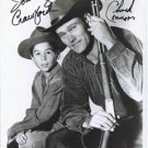 THE RIFLEMAN CAST JOHNNY CRAWFORD CHUCK CONNORS SIGNED 8X10 RP AUTOGRAPHED