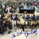 BRIAN KELLY + NOTRE DAME 2012 TEAM SIGNED PHOTO 8X10 RP AUTO EVERETT GOLSON