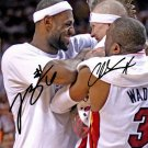 CHRIS BIRDMAN ANDERSEN & LEBRON JAMES SIGNED PHOTO 8X10 RP AUTOGRAPHED HEAT !