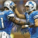 MATTHEW STAFFORD CALVIN JOHNSON SIGNED PHOTO 8X10 RP AUTOGRAPHED DETROIT LIONS