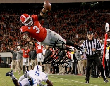 TODD GURLEY AUTOGRAPHED PHOTO 8X10 RP SIGNED GEORGIA BULLDOGS FOOTBALL