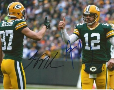 AARON RODGERS & JORDY NELSON SIGNED PHOTO 8X10 AUTOGRAPHED GREEN BAY PACKERS