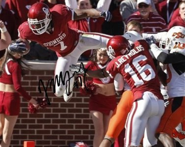 DEMARCO MURRAY SIGNED AUTOGRAPHED PHOTO RP 8X10 AUTO OKLAHOMA SOONERS