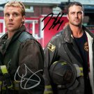 Chicago Fire Cast Jesse Spencer Taylor Kinney signed photo 8x10 rp autographed