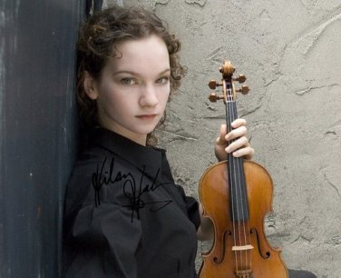HILARY HAHN SIGNED PHOTO 8X10 RP AUTOGRAPHED VIOLIN PLAYER