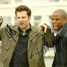 Psych Cast James Roday & Dule Hill signed photo 8x10 rp autographed