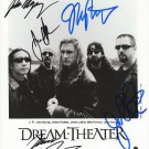 Dream Theater full band group signed photo 8x10 rp autographed James Labrie