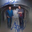 JARED PADALECKI & JENSEN ACKLES SIGNED PHOTO 8X10 AUTOGRAPHED SUPERNATURAL