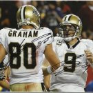 DREW BREES & JIMMY GRAHAM SIGNED PHOTO 8X10 RP AUTOGRAPHED NEW ORLEANS SAINTS